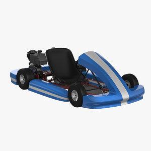 3d model of racing kart
