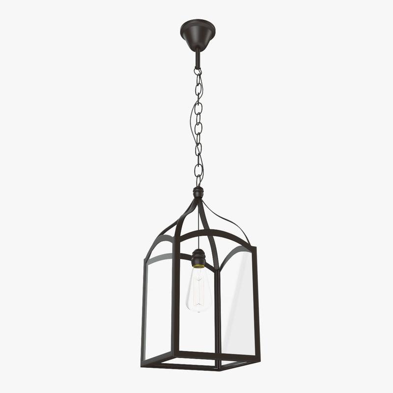 max loft square lamp-chandelier