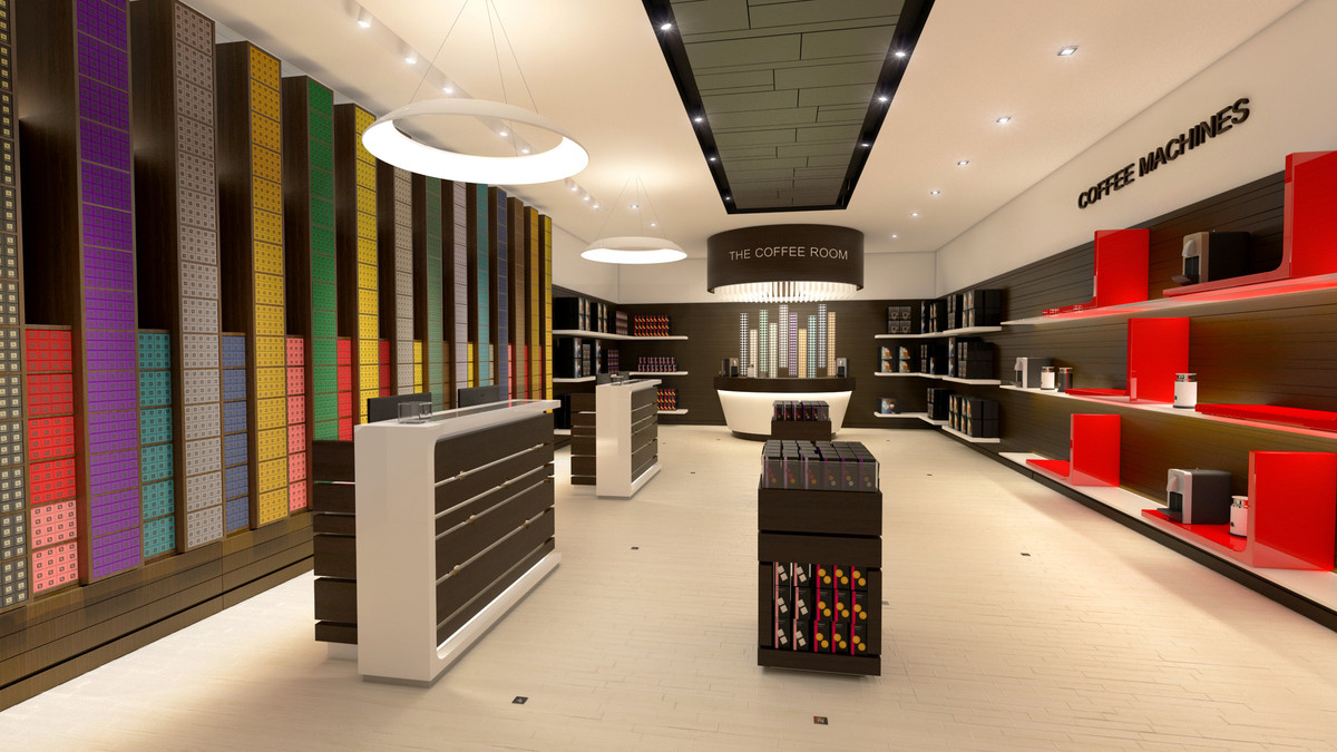 3d model nespresso boutique