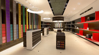 3d nespresso boutique model