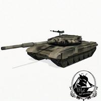 3d model t-90 battle tank