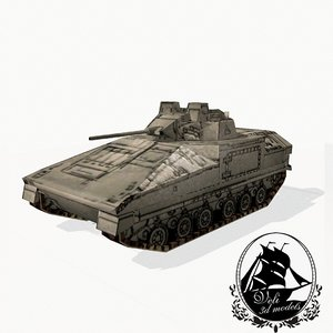 3d warrior fv510 model