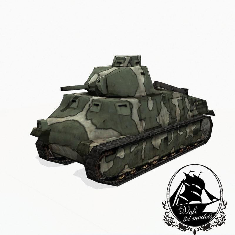 somua s35 tank 3ds