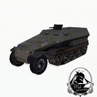 sd kfz 251 transport 3d 3ds