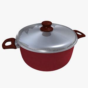 casserole pan 3d obj