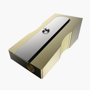 3d model sharpener modeled