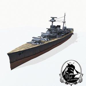 3d admiral-class battlecruisers model
