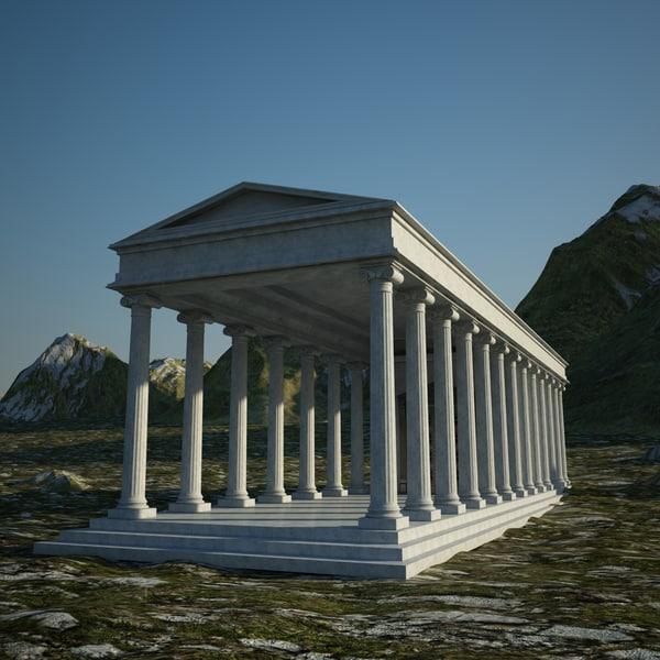 greek temple 3d max