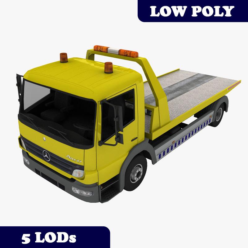 3d model atego tow truck lods