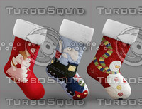 3d 3ds christmas socks