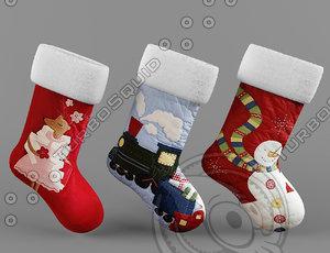 3d 3ds christmas socks
