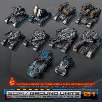 10 Low-Res SciFi Ground Units