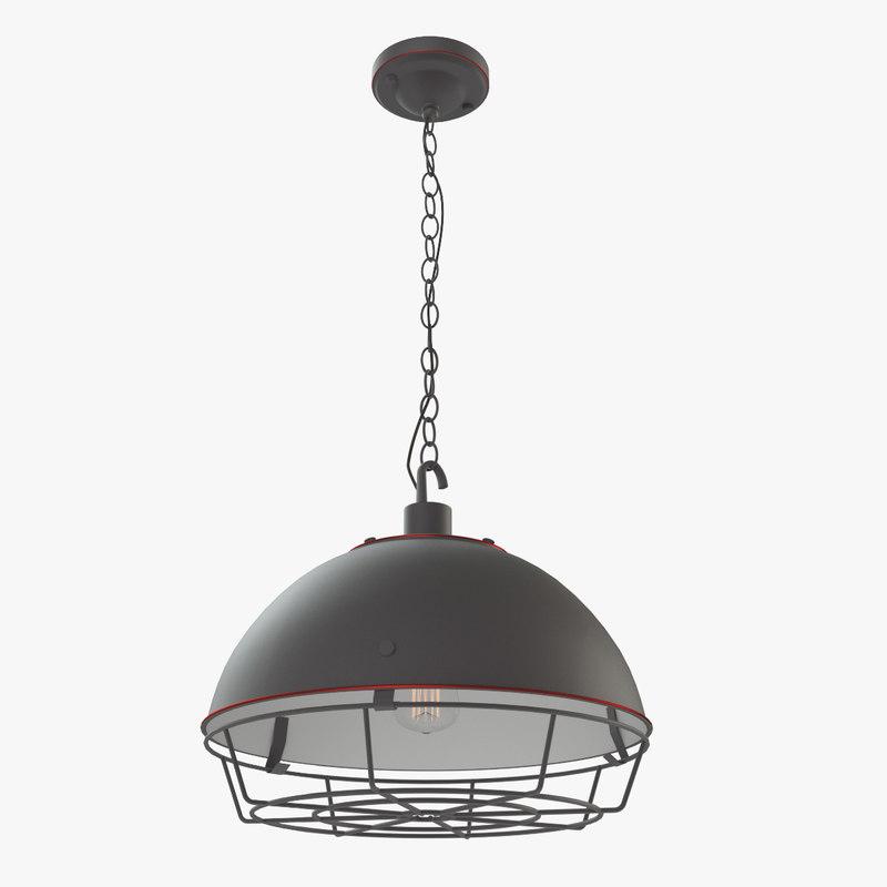 3d max industrial loft creative chandelier