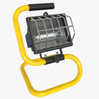 halogen work lamp 3d obj