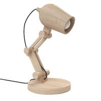 3d wood table lamp