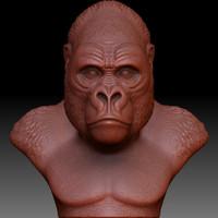 Gorilla Head Sculpture