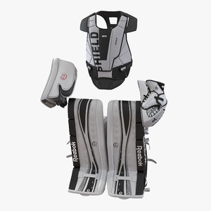 hockey goalie protection kit 3d 3ds