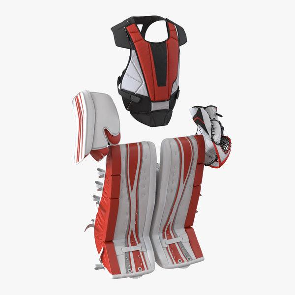 hockey goalie protection kit 3d max