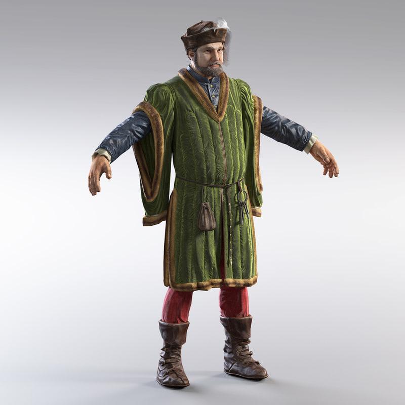 medieval merchant version 3d max