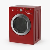 Red Front Loading Washer