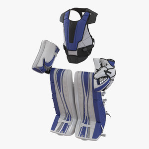 hockey goalie protection kit 3d obj