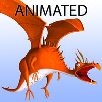 Animated Dragon - Cartoon Stylized