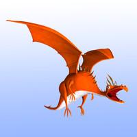 Animated Dragon - Cartoon Stylized