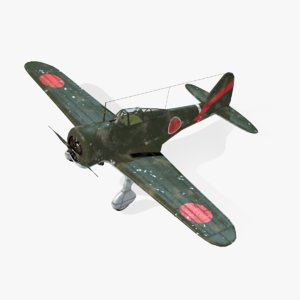 aircraft ki-27 nate real-time obj