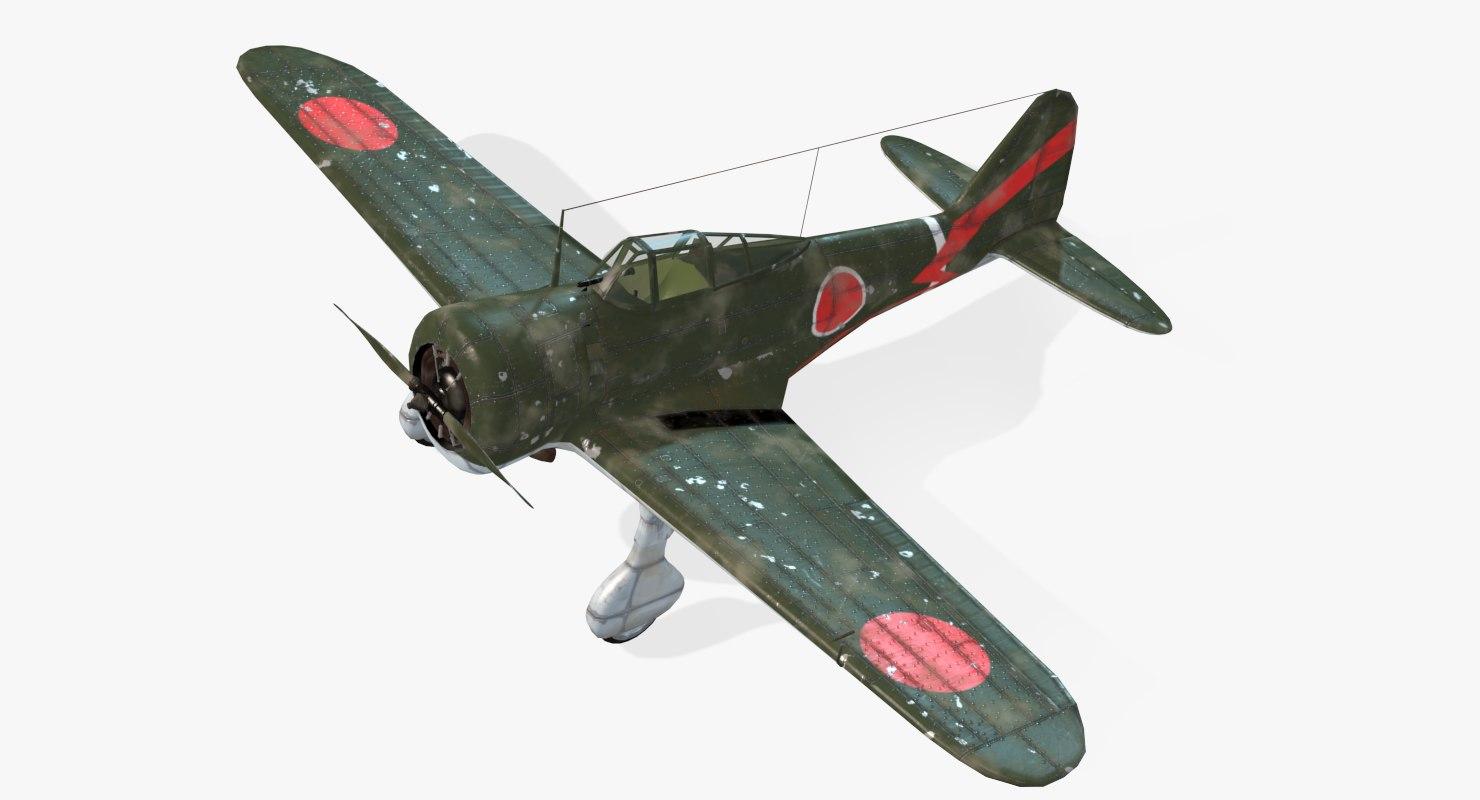 aircraft ki-27 nate real-time obj