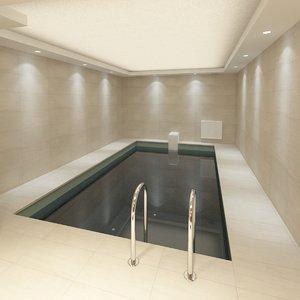 3d model pool sauna
