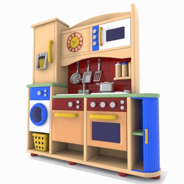 3d model kitchen toon