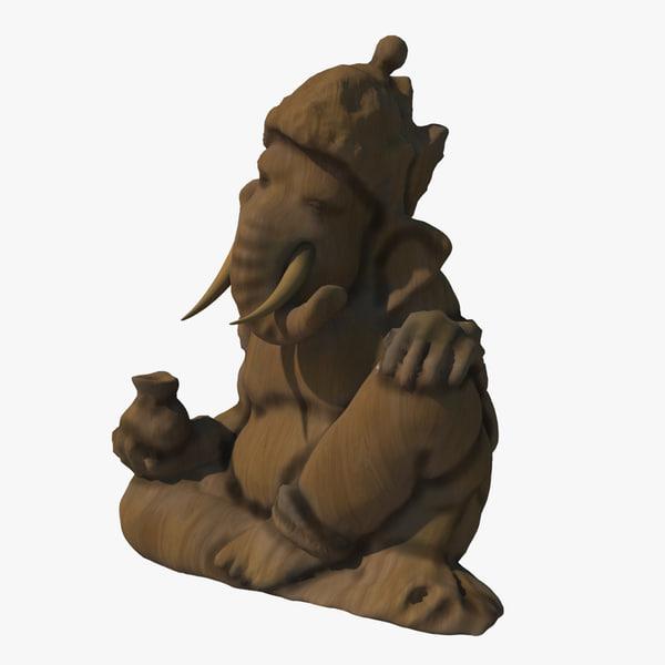 statue ganesha 3d max
