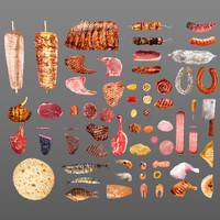 3d model of meat fish 65