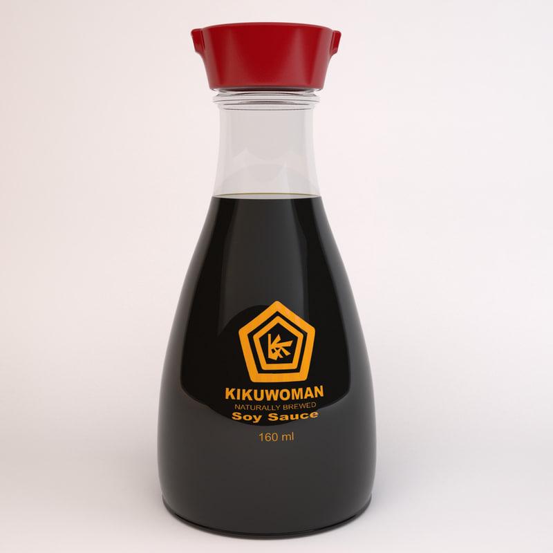 soy sauce 3d model