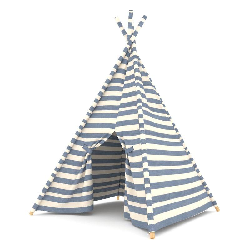 3d model of childrens tent