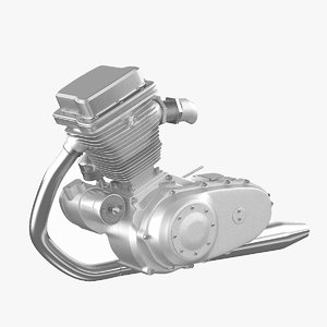 motorcycle engine 3d model