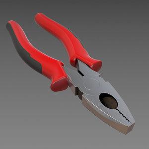 3d combination plier model