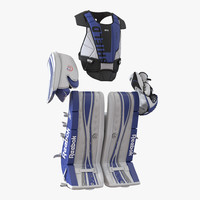 3d model hockey goalie protection kit