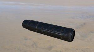 3d model of silencer