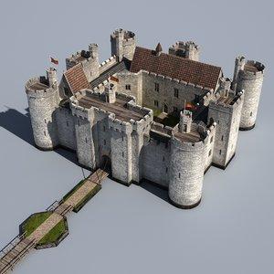3d medieval water