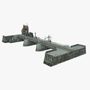 3d model of old bridge