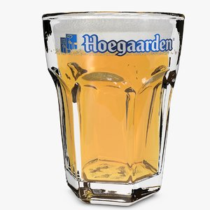 3d hoegaarden beer glass