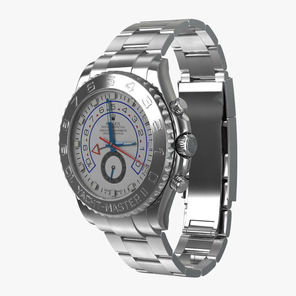 rolex yachtmaster ii oyster 3d obj