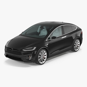 3d model tesla x simple interior