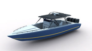 3d midnight express powerboat model