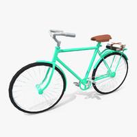 3d model vintage bicycle