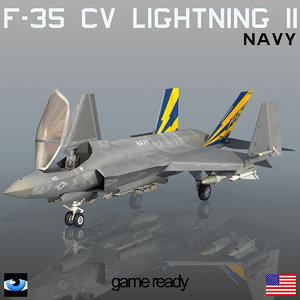 3d f-35 c lightning ii