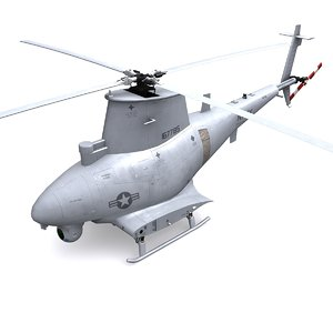 3d mq-8 scout helicopter mq-8b model