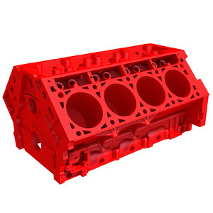 3d model print ready v8 engine