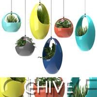 hanging plants 3d model